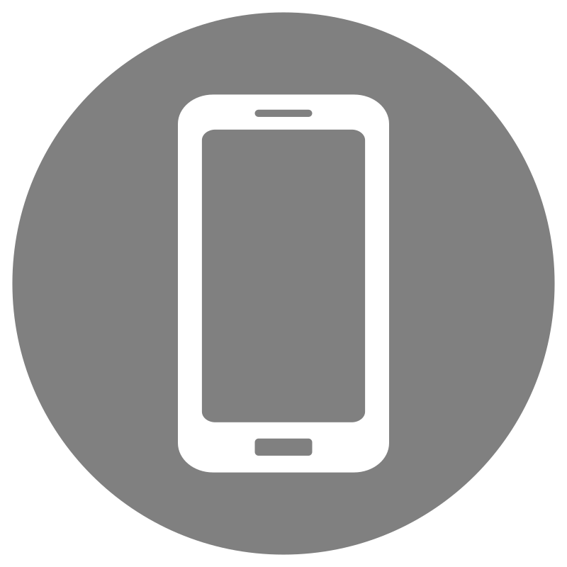 Mobile Phone Icon Grey