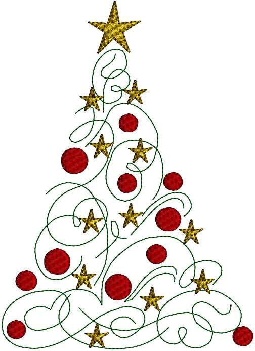 Modern Christmas Tree Pattern