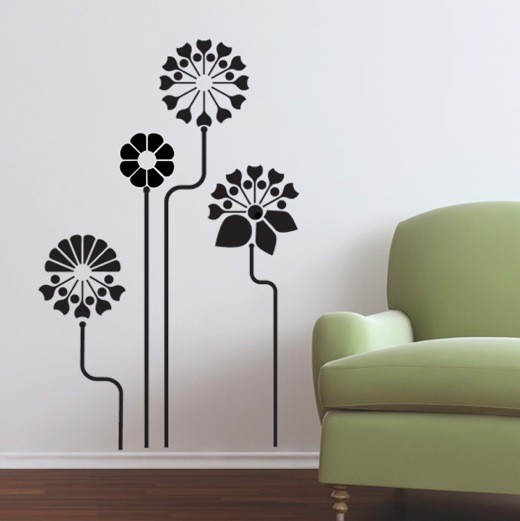 Modern Flower Wall Stickers Decals
