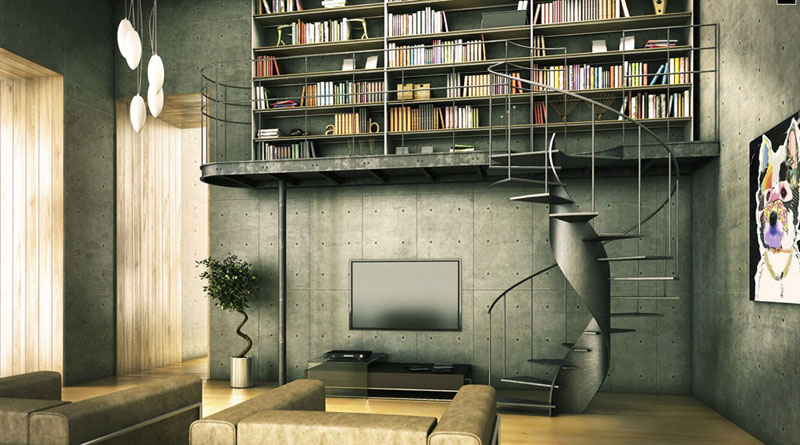 Modern Industrial Interior Design Library