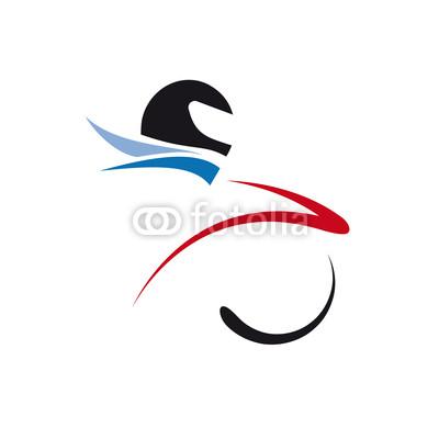 Motorcycle Rider Vector Logo
