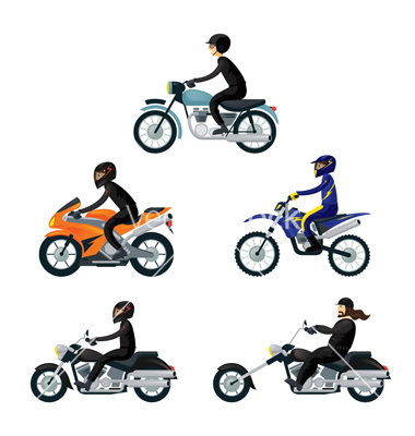 15 Back View Motorcycle Rider Vector Images