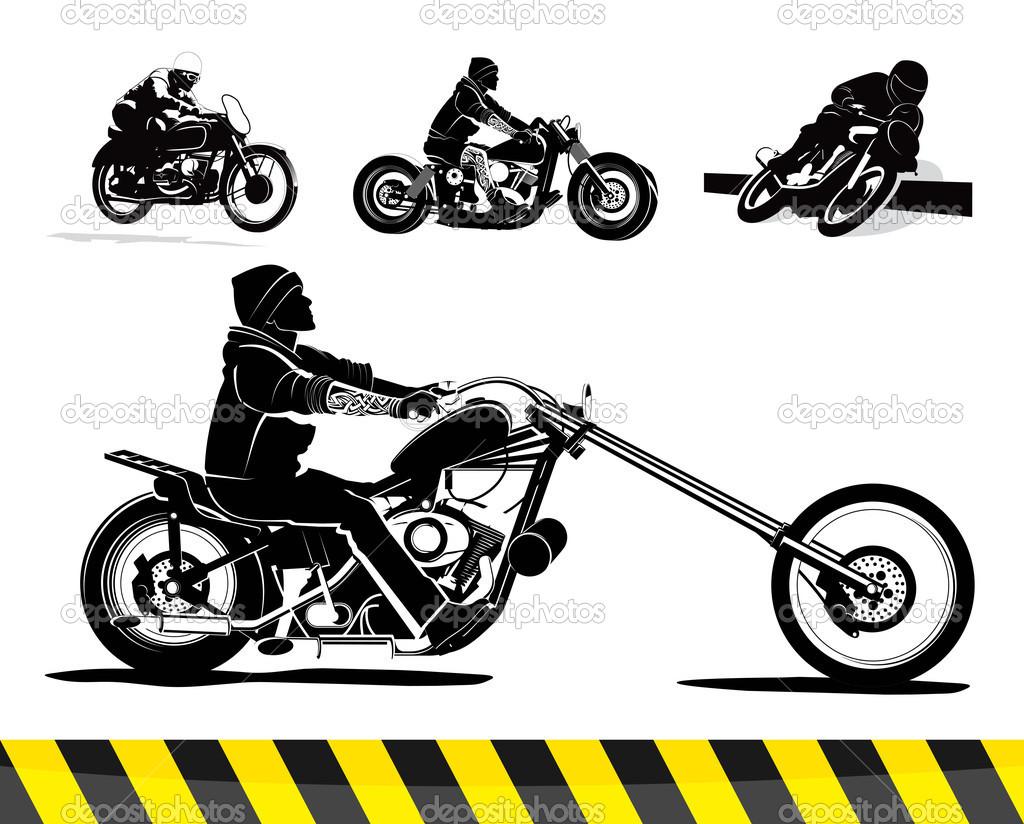 Motorcycle Vector Graphics Clip Art