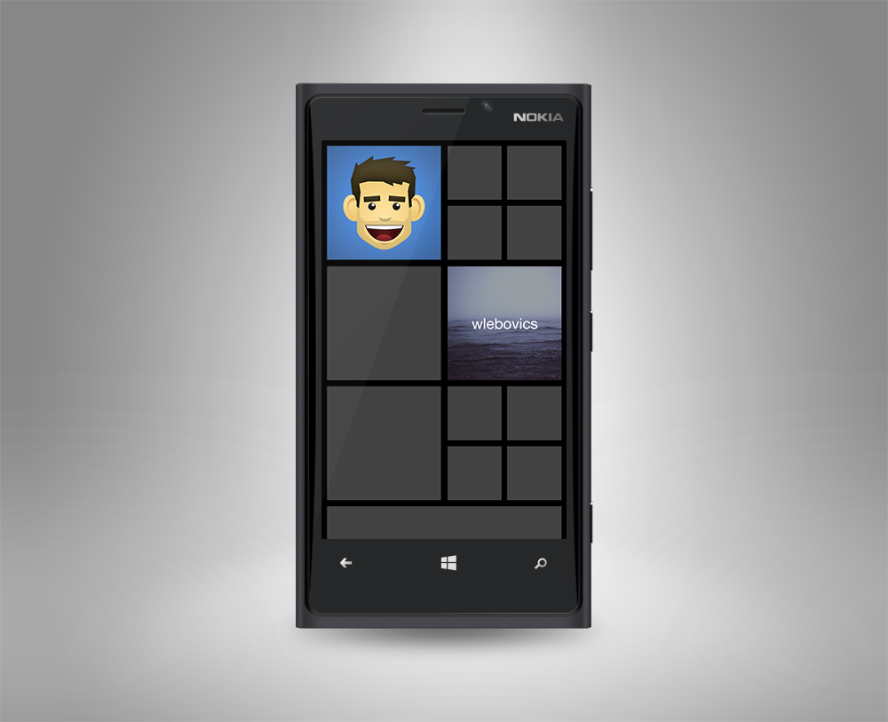 5 Nokia Lumia PSD Template Images