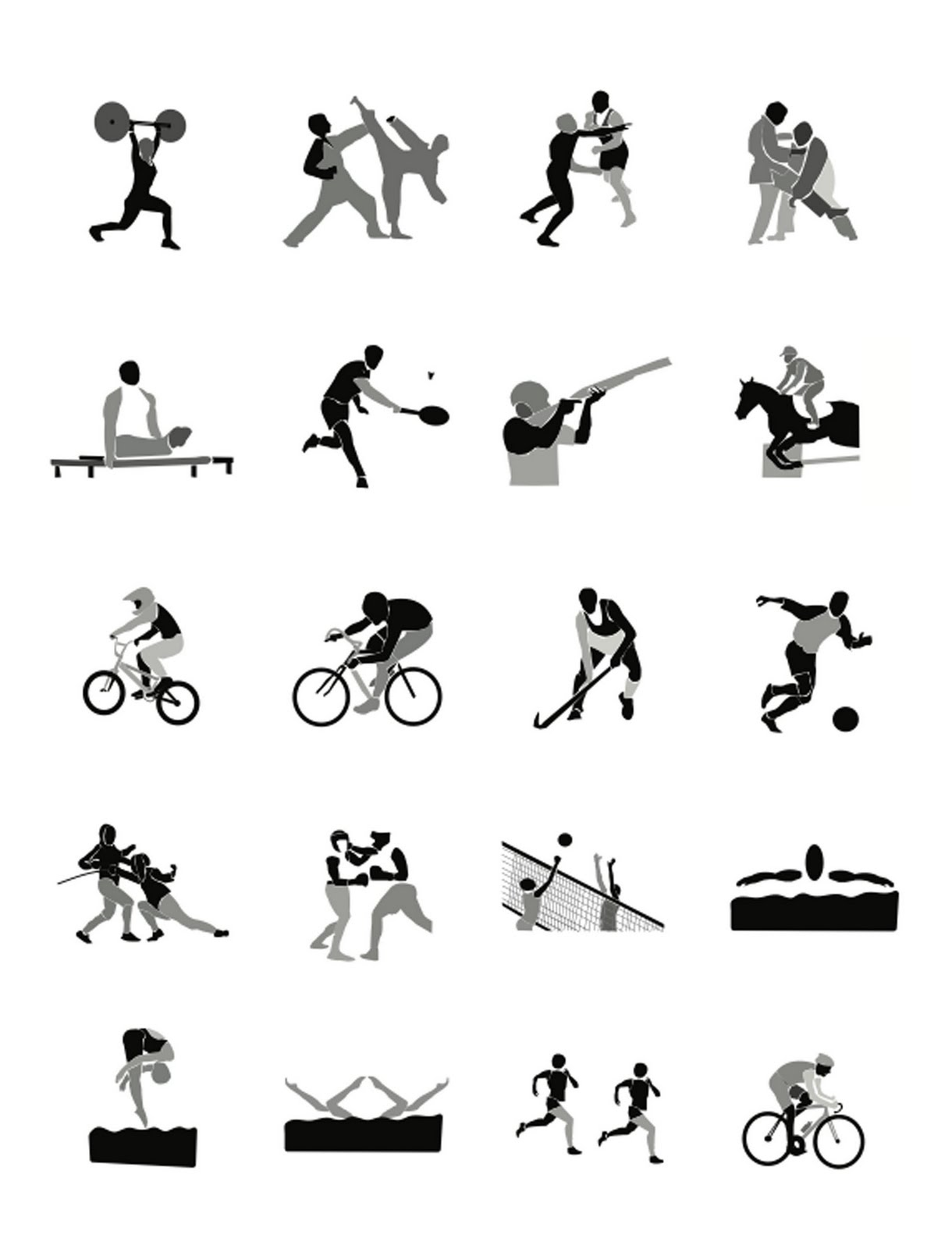 14 Olympic Event Icons Images