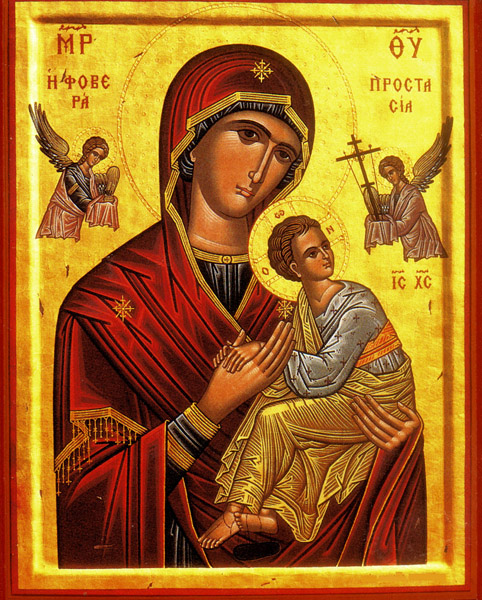 Orthodox Icon Mary and Jesus