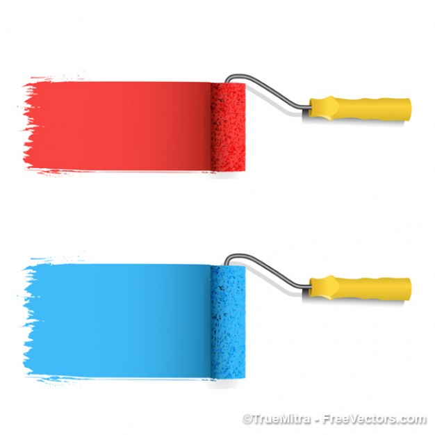 14 Free Vector Paint Roller Images