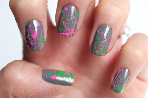 12 Splash Nail Designs Images