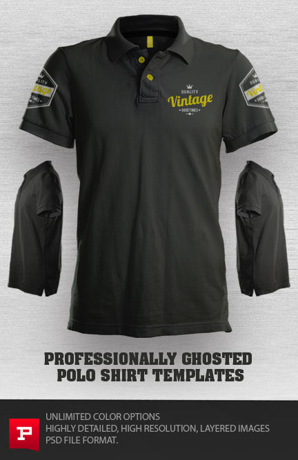 Polo Shirt Template PSD