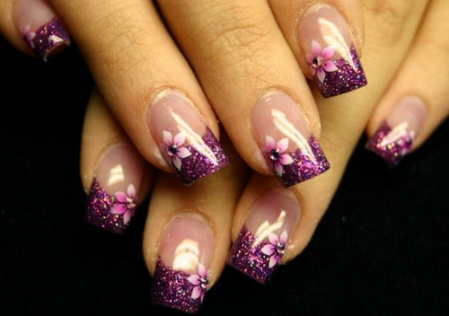 8 Purple Wedding Nail Designs Images