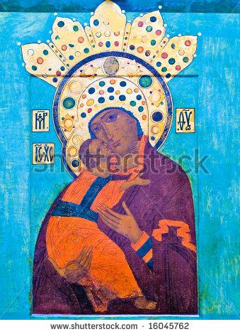 Religious Icon Mary and Jesus