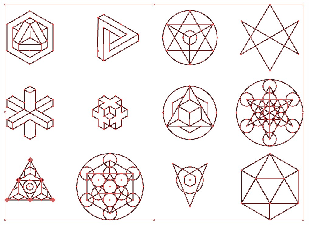 5 Sacred Geometry Vector Pattern Images