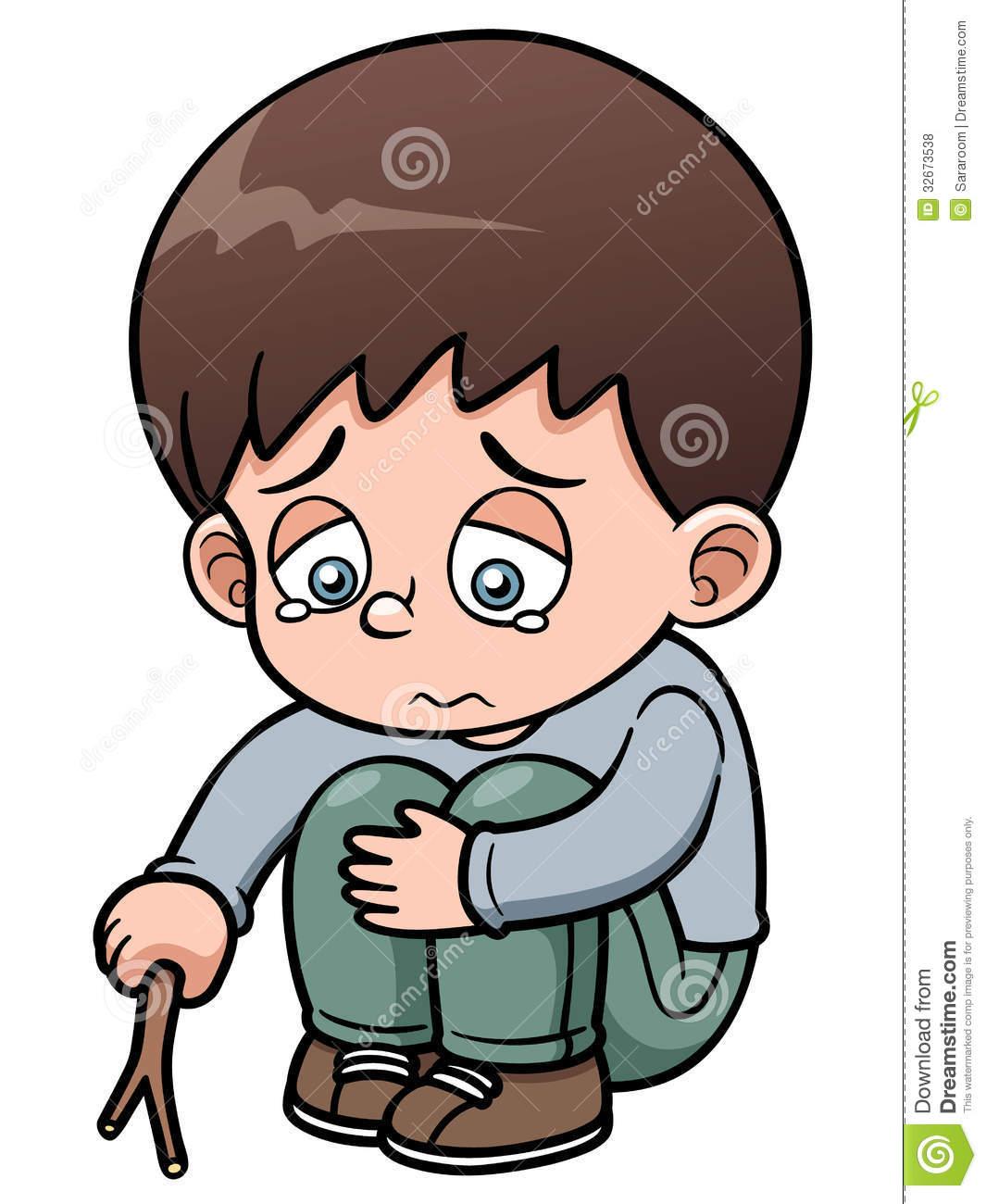 Sad Boy Cartoon Clip Art