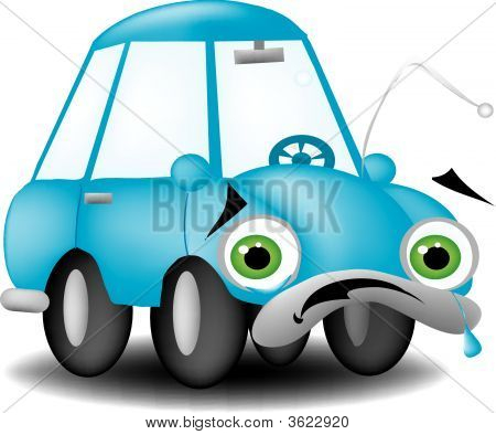 Sad Cartoon Car