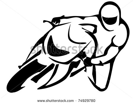 14 Motorcycle Rider Vector Drawing Images