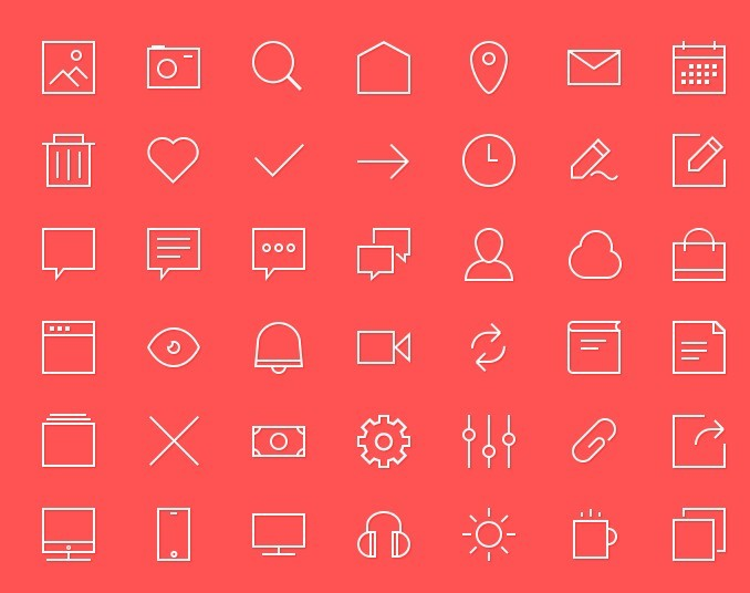 Single Select Option Button Icons Patterns