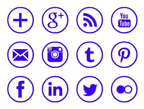 11 Free Social Media Icons Circle Images