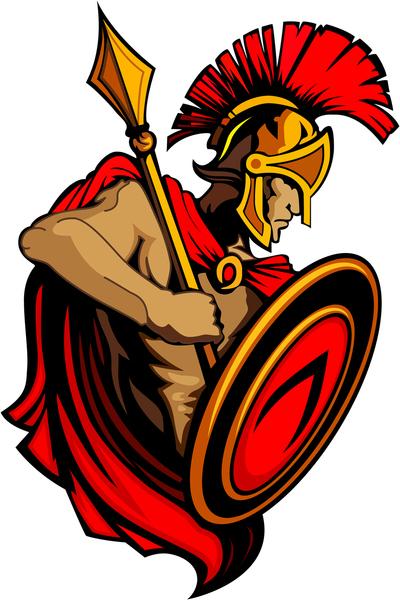 17 Trojan Mascot Vector Images