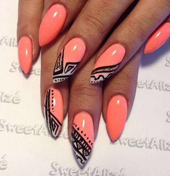 9 Stiletto Nail Designs Images - Stiletto Nail Designs 2015, Long ...