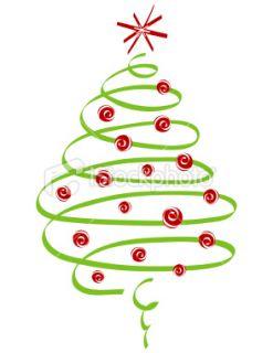 Swirl Christmas Tree Clip Art Free