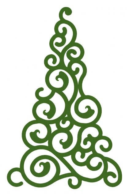 19 swirly christmas tree graphics free images