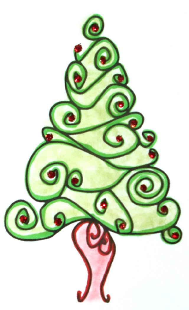 Swirl Christmas Tree