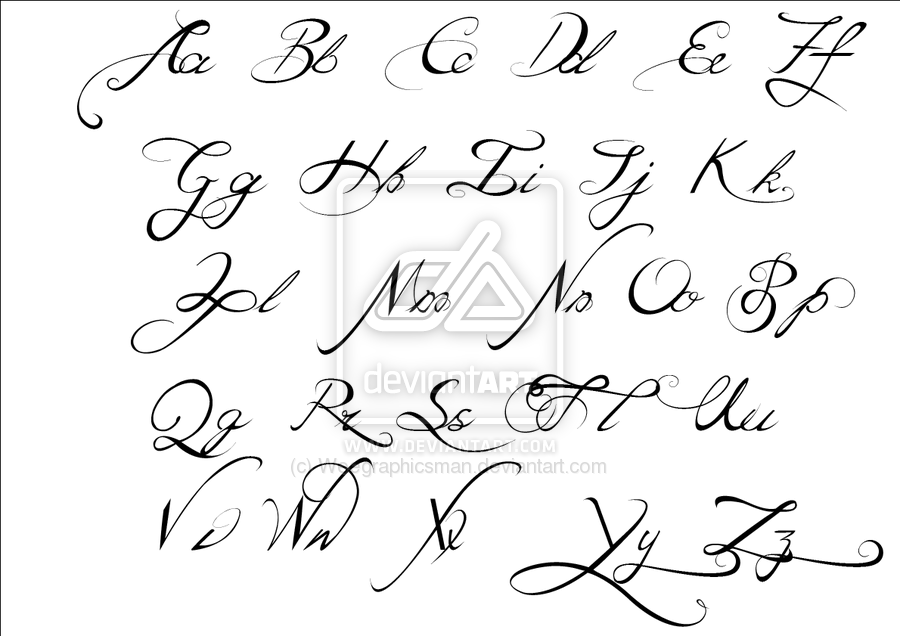 Tattoo Fonts Script Calligraphy Alphabet