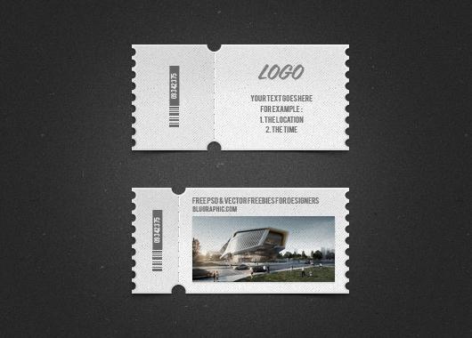 Ticket Template Photoshop