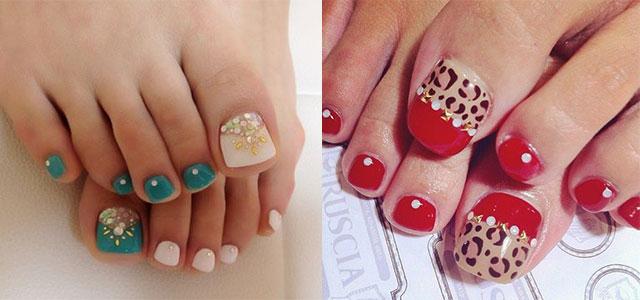 14 Cute Easy Toe Nail Art Designs Images Cute Toe Nail Designs