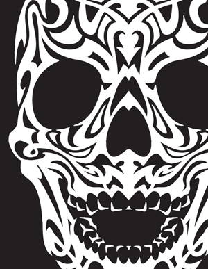 9 Tribal Skull Vector Images