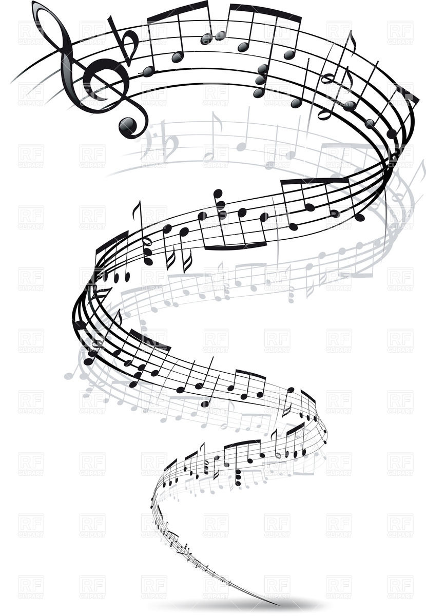 Twisted Music Notes