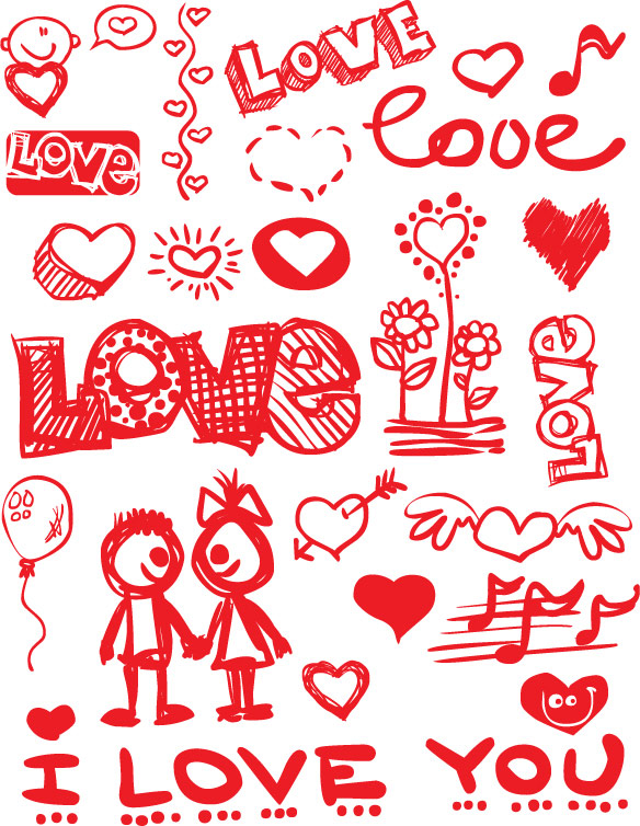 6 Valentine's Day Vector Images