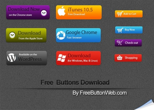 Vector Buttons Free Download