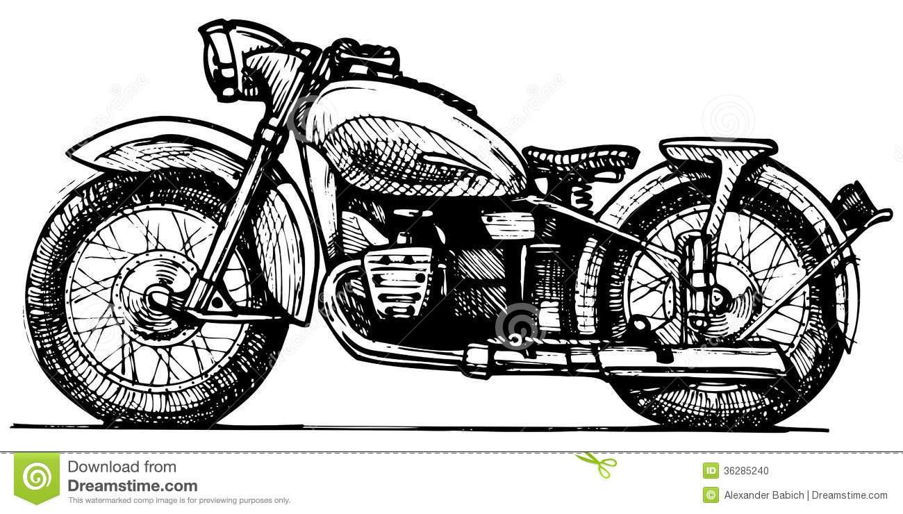 Vector Motorcycle Drawings