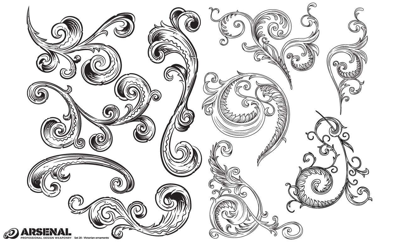 Victorian Ornaments Vector