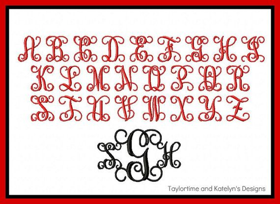 Vine Monogram Font Download