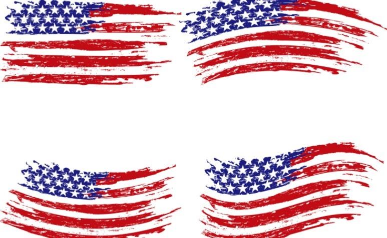 Vintage American Flag Vector