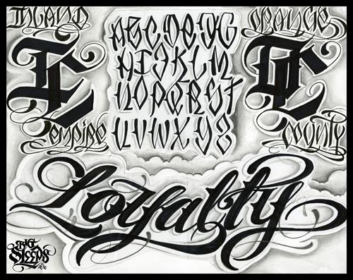 Шрифты для тату в стиле чикано