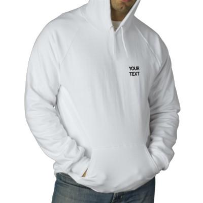 White Pullover Hoodie Men