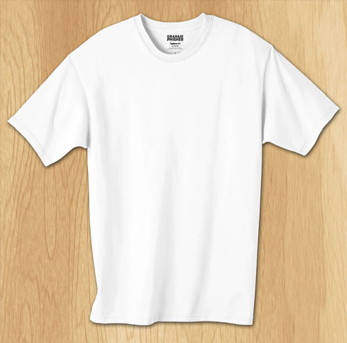 White T-Shirt Template PSD