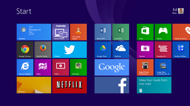 Windows 8 Start Screen Layouts