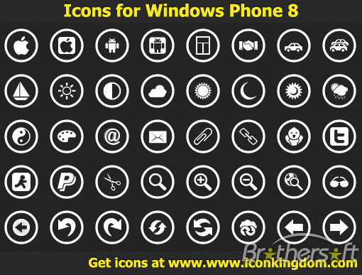 Windows Phone Application Bar Icons