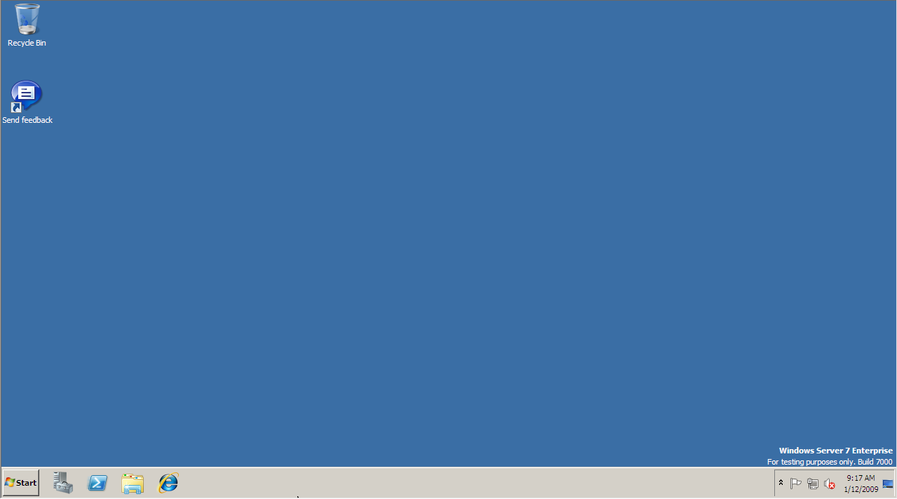 Windows Server 2008 R2 Desktop