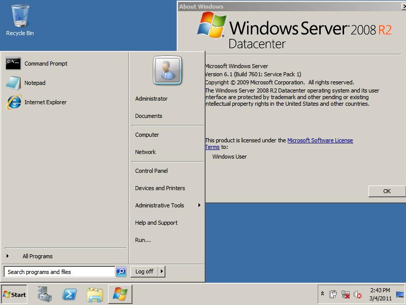 Windows Server 2008 R2 SP1