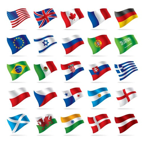 World Flags Vector Free