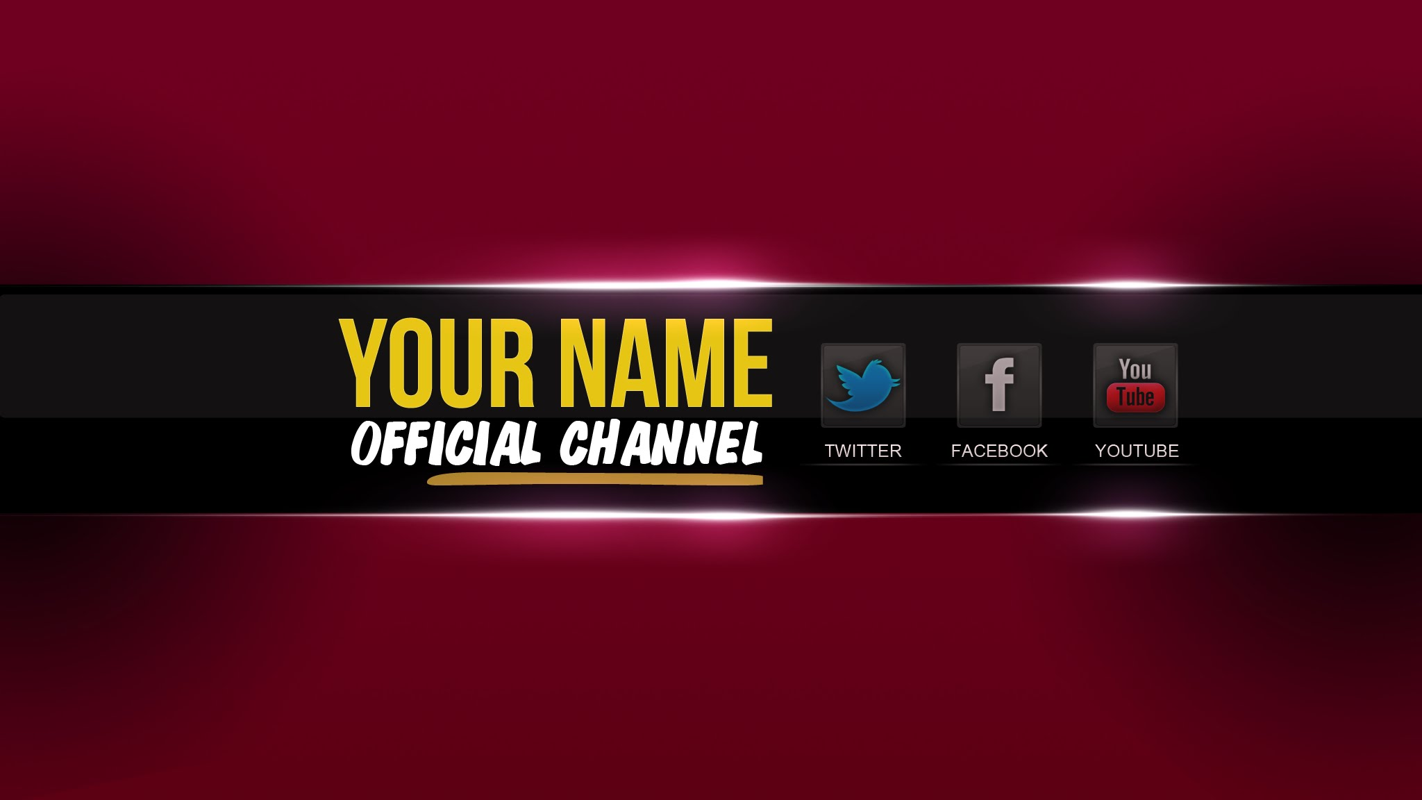 You Banner Template 2017
