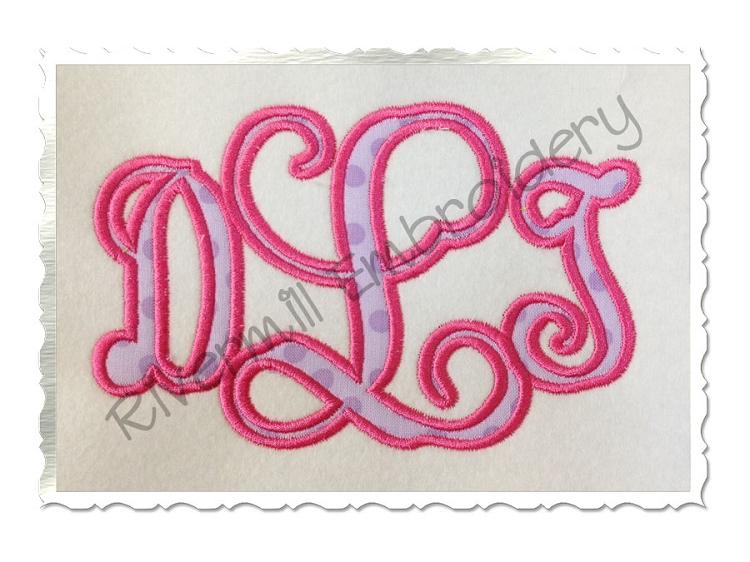 Applique Machine Embroidery Monogram Fonts