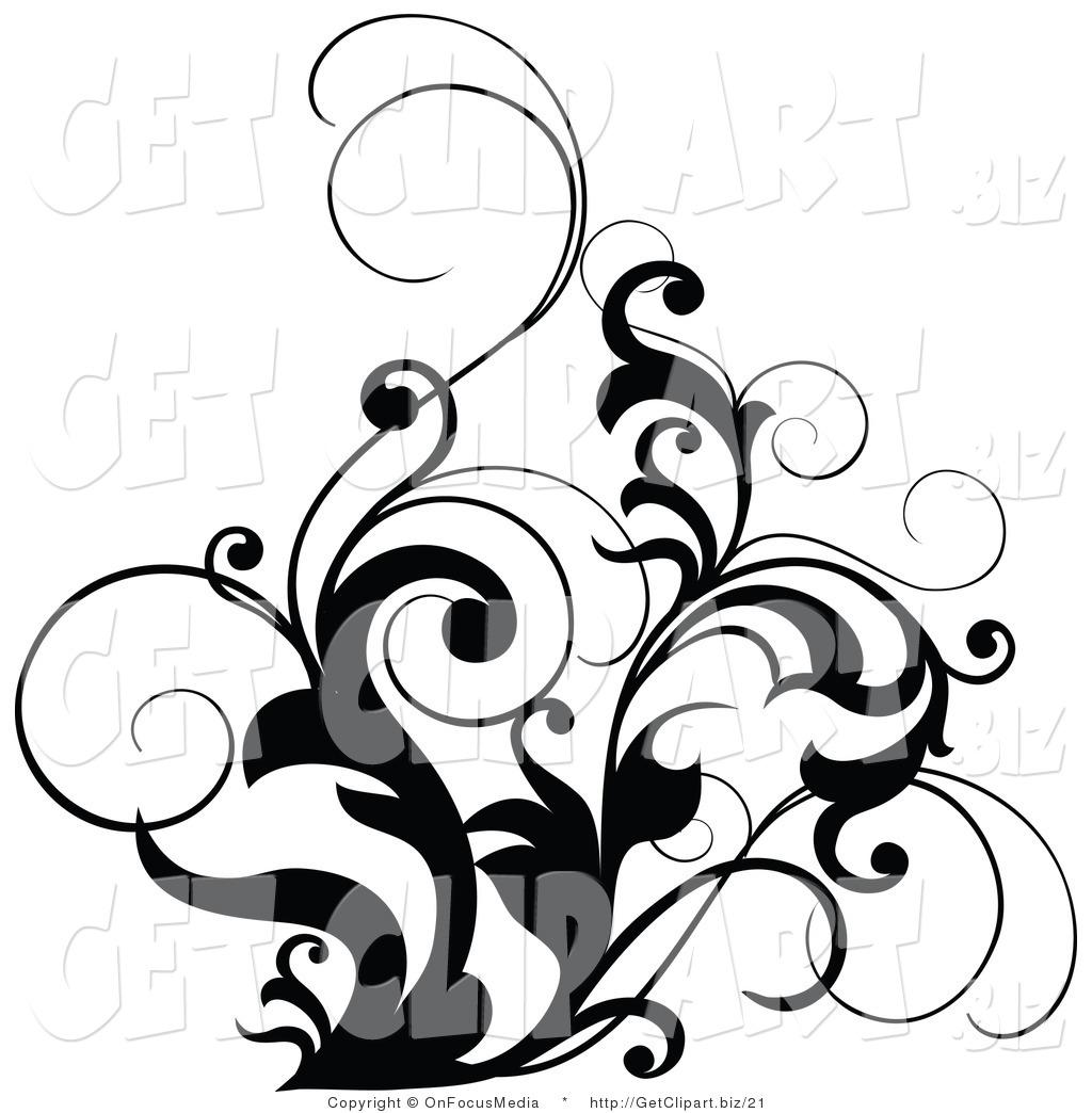 Black and White Designs Clip Art Free