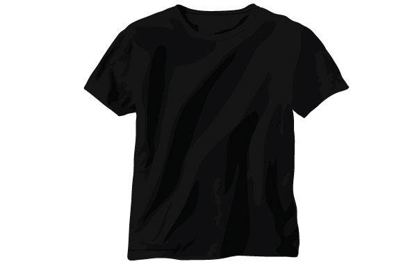 20 Vector Black T-Shirt Images