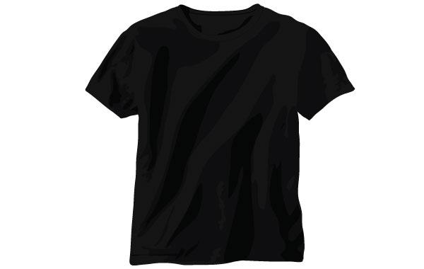 20 Vector Black T-Shirt Images